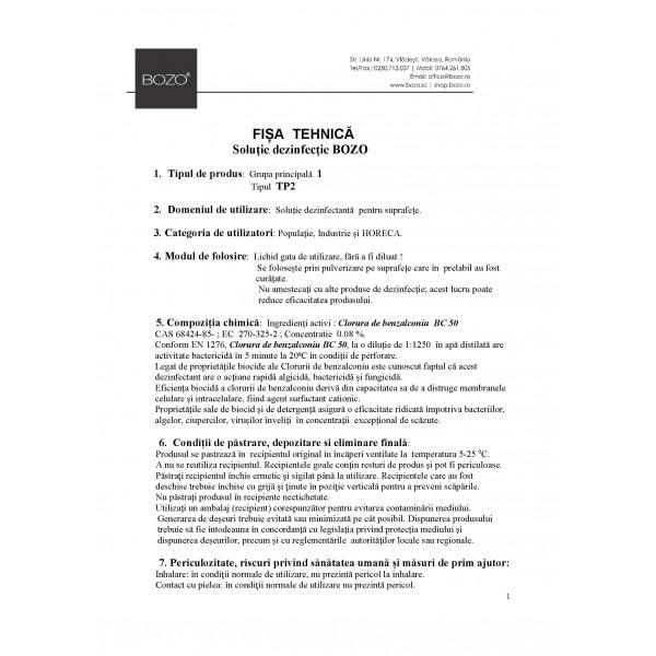 Soluție dezinfecție - Biocid BOZO 20L